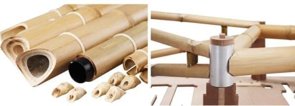 竹製のパーツは加工済み