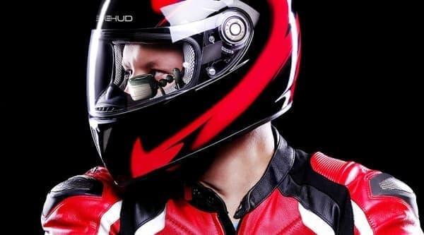 Bikesystems によるバイクヘルメット用 HUD「BIKEHUD CLASSIC」  (第一世代商品)