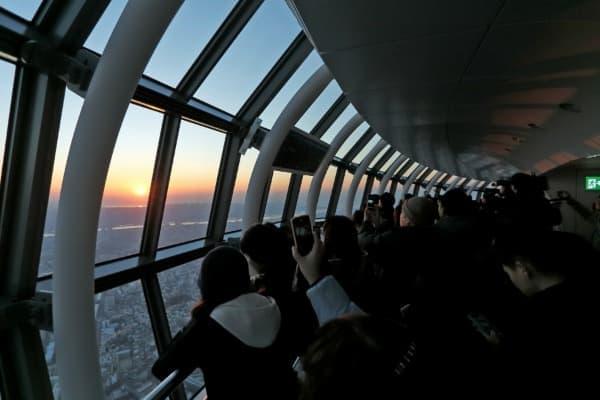 東京スカイツリーから眺める日の出(イメージ)  (c)TOKYO-SKYTREE