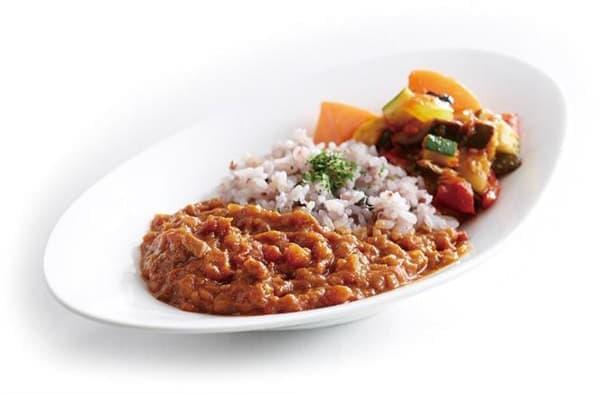 十六穀米とキーマカレー ラタトゥイユ添え