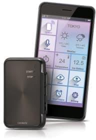 TE-BT1(左)と専用iPhoneアプリ(右)