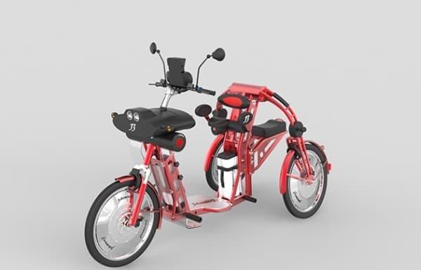 「Johanson3」は、2名乗車可能な電動バイク