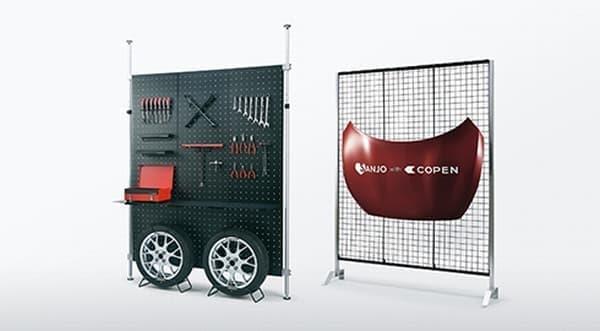 「Love SANJO プロジェクト」による壁面収納ユニットと本格ツールシリーズ   「コペンと共に暮らす人々のガレージライフ」を表現
