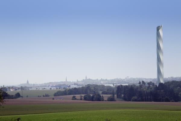 ThyssenKrupp が建築予定のテスト用タワー(イメージ)