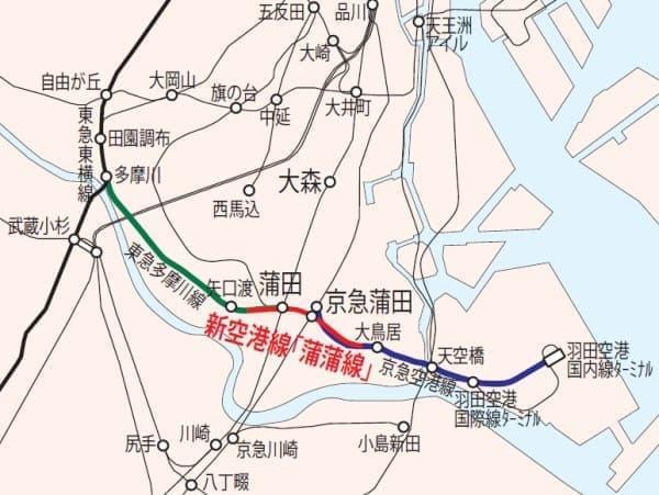 蒲蒲線で大田区を東西に走る横断ルートが確保される