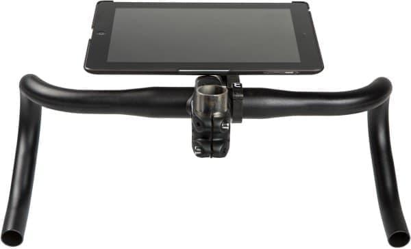 Morsa マウントで iPad を自転車に取り付けた例  あまりおススメできない
