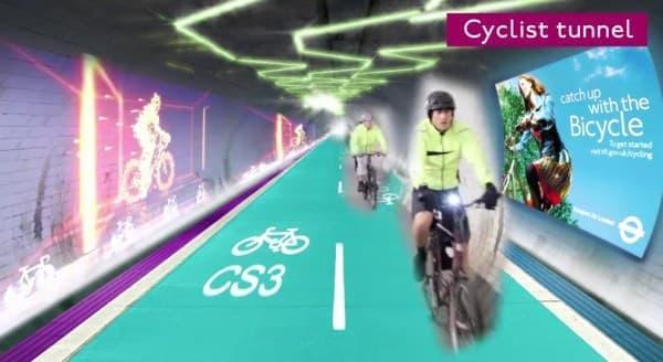 廃線になった英国の地下鉄跡を自転車道路にする  「The London Underline(ロンドン・アンダーライン)」