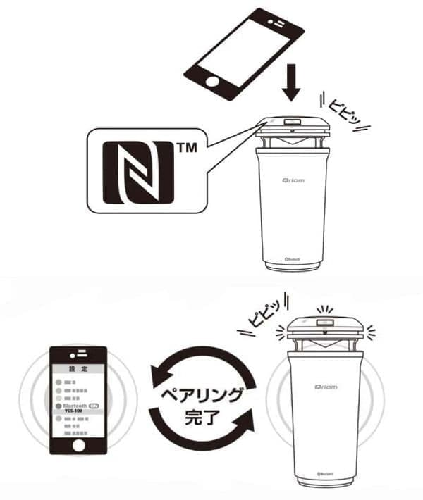 NFC と Bluetooth でつながりやすいのも売り