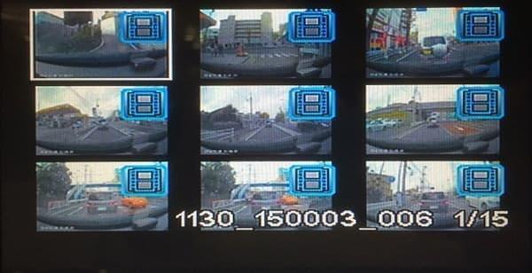 ドライブレコーダの映像をカーナビで確認するイメージ