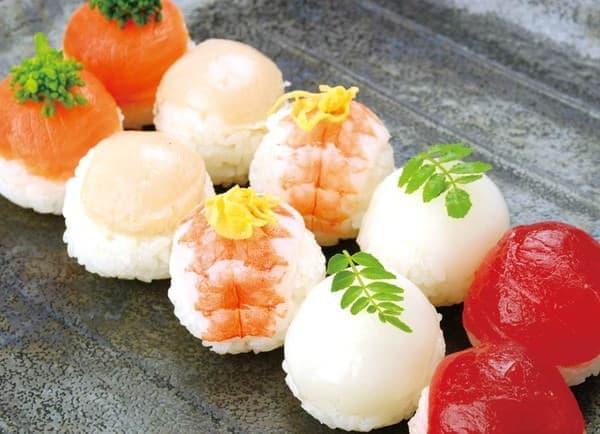 こちらは一口手まり寿司のイメージ