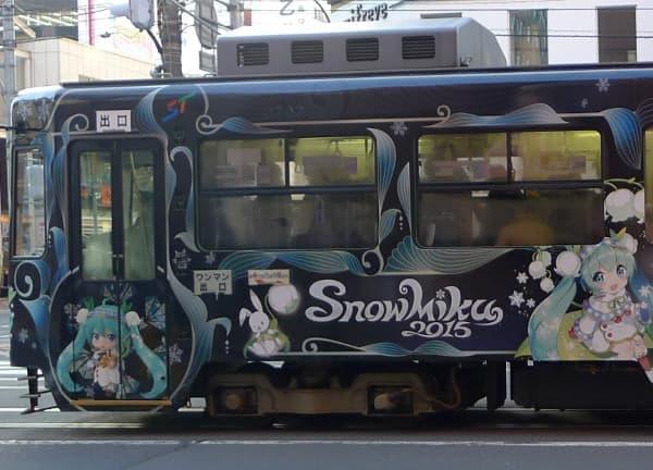 札幌市電といえば「雪ミク列車」なども運行