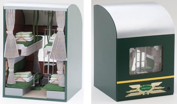 トワイライトエクスプレス」の模型って、客室内装だとは!