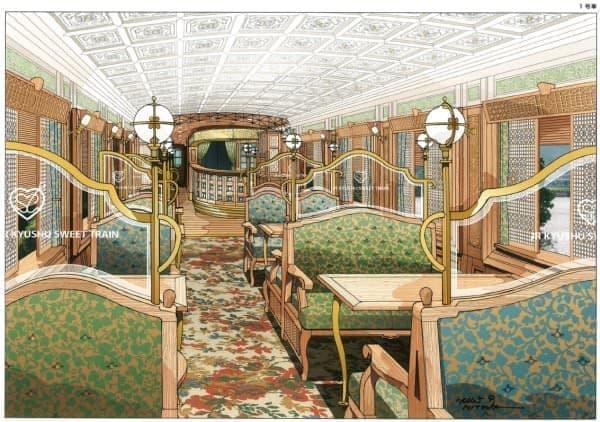 成澤由浩氏監修の「スイーツコース」を楽しめる「或る列車」  (画像はテーブル席完成イメージイラスト)