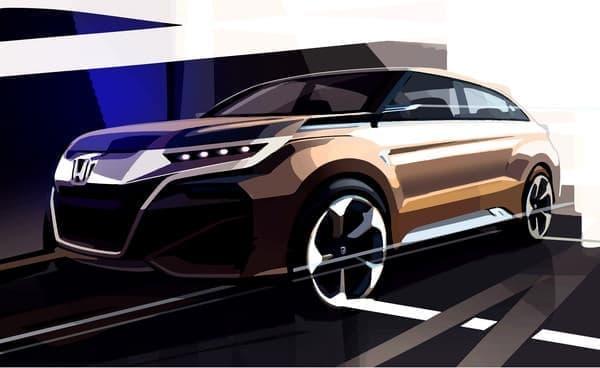 新型 SUV コンセプトモデル デザインスケッチ
