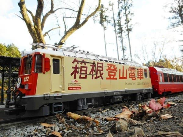 世界でただ1台の「スイスの箱根登山電車」模型(出典:ガーデンレイルウェイ・カフェ)