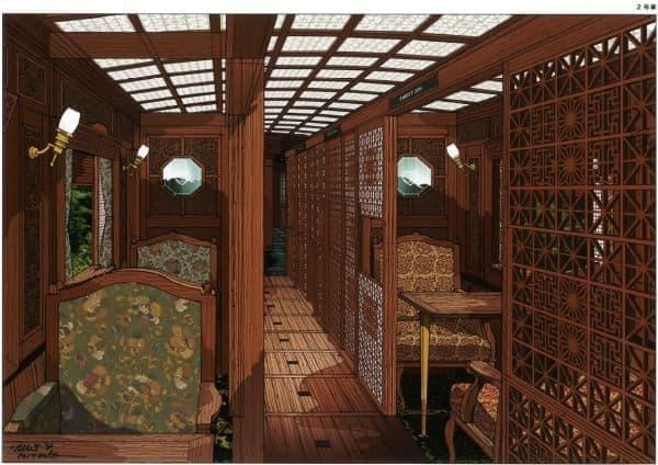 2名用の個室  (画像は完成イメージイラスト)