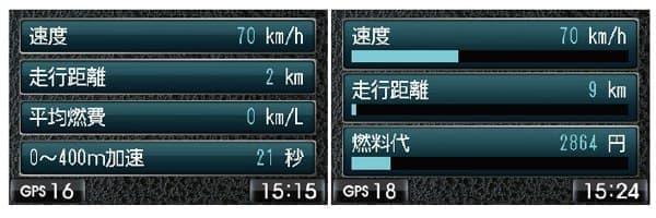 OBDII で車両情報を表示できる