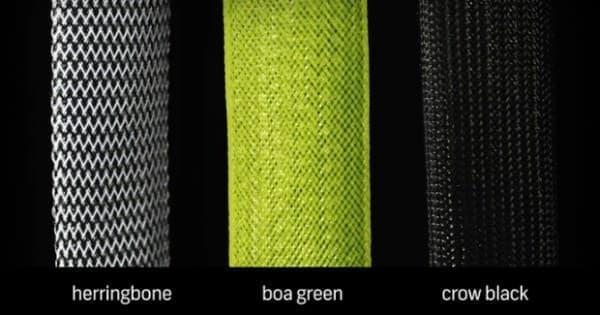 カラーバリエーションは、「ヘリンボーン」「ボアグリーン」「クロウブラック」の3色