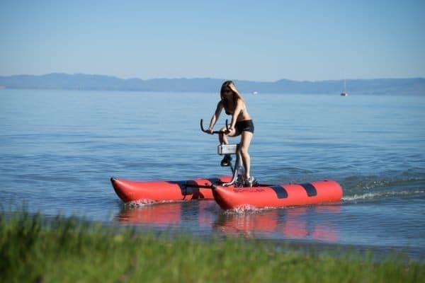 自転車と同じ走行感覚を、水上でも味わえます