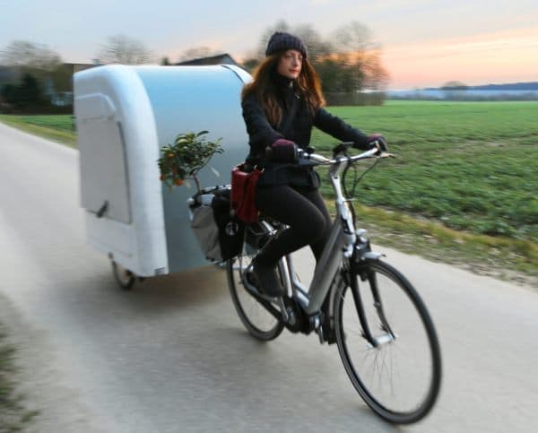 自転車で牽引するキャンピングカー「Wide Path Camper」、プリオーダー開始!