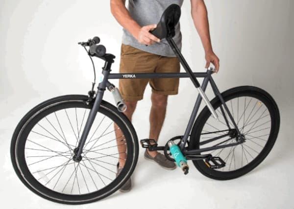 「Yerka」は、フレームとシートポストをロックとして利用する自転車