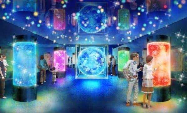 クラゲによる癒し空間「ジェリーフィッシュランブル」ゾーン
