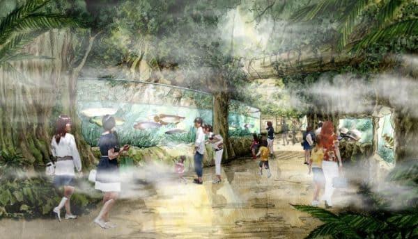 世界のジャングルシーンを凝縮したゾーン「アクアジャングル」