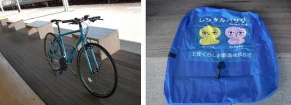 ここに自転車と輪行バッグがある
