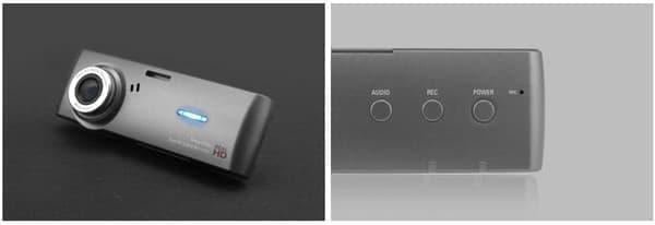 LED による録画表示が可能。3つのボタンで操作を行う