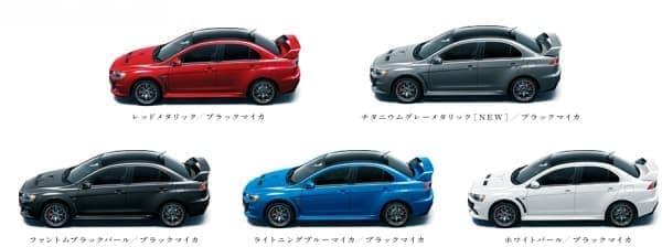 ボディカラーは全5色の設定  メーカーオプションの2トーンカラーを含めると10色展開となる