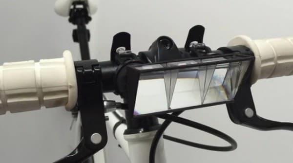 自転車のハンドルバーに取り付ける潜望鏡「Pedi-Scope」