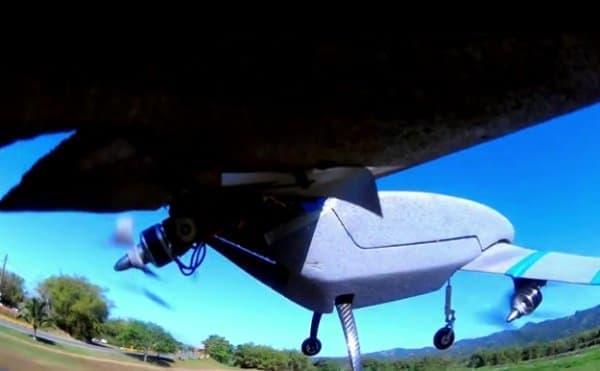 飛行機モード  プロペラが後ろを向いているのがわかる
