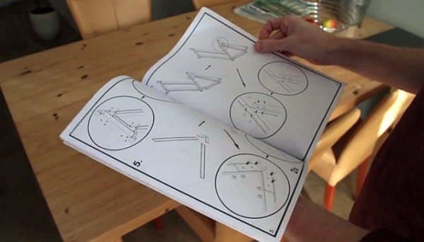 IKEA の家具同様、説明書を見ながら組み立てる