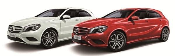 「A クラス」特別仕様車「A 180 Style Plus」  (左「カルサイトホワイト」、右「ジュピターレッド」)
