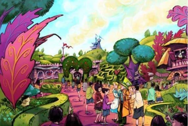 ファンタジーランド内の『ふしぎの国のアリス』をテーマとしたエリア