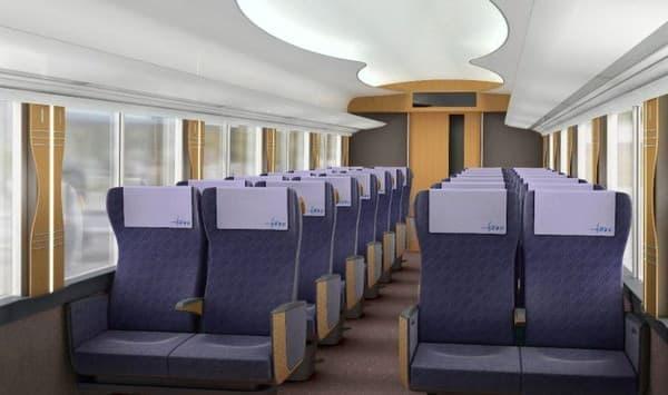 「江戸紫」をもとにした座席