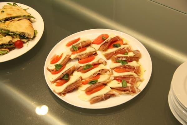 オープニングイベントでもガンベロロッソの料理が登場