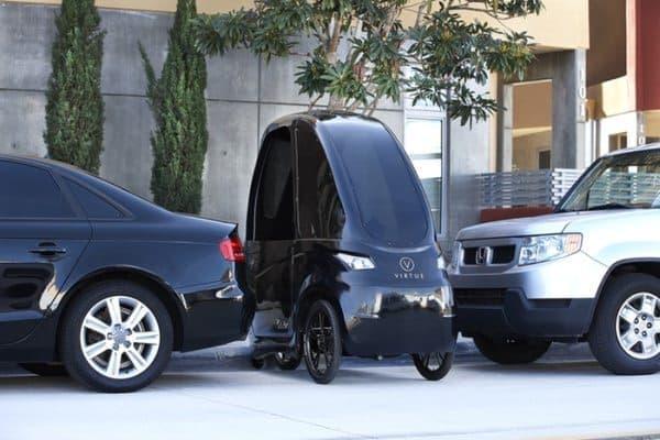 狭いスペースに駐輪可能