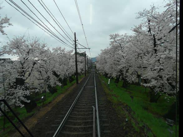 昼間のようす(出典:京福電気鉄道)