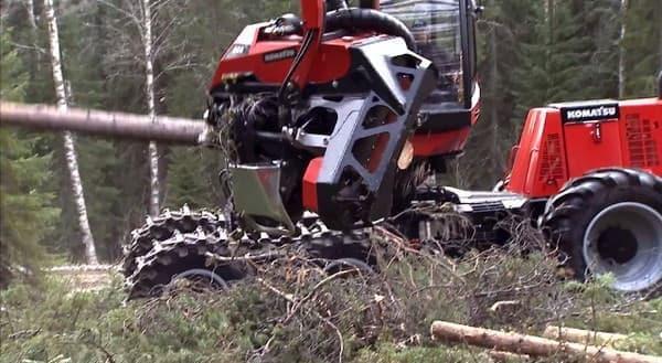 瞬時にして木を刈り取る