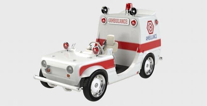 コース内を走行するクルマの例:救急車
