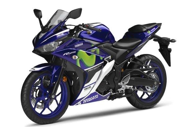 MotoGP マシン「YZR-M1」のグラフィックを採用した限定モデル  「YZF-R25 Movistar Yamaha MotoGP Edition」