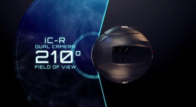 リアビューモニターは210度の視野角で後方視界を提供する
