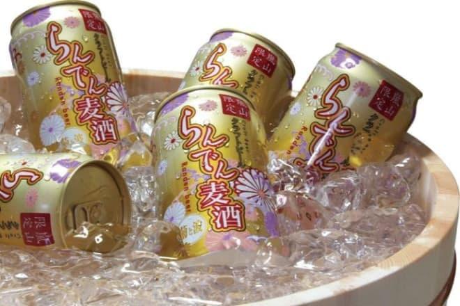 缶は京友禅を意識したデザイン