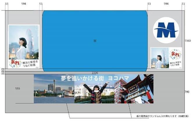 さまざまな横浜の風景が描かれている