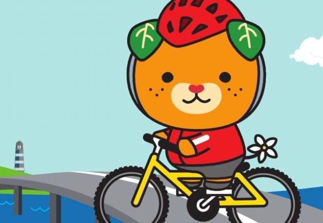 「サイクリング・パラダイス愛顔のえひめ旅行券」販売開始  (自転車に乗っているのは愛媛県イメージアップキャラクター『みきゃん』)
