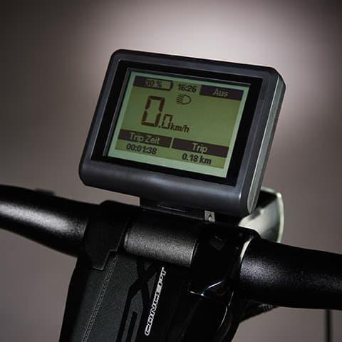 ハンドルバーの LCD は、スマートフォンと連携可能