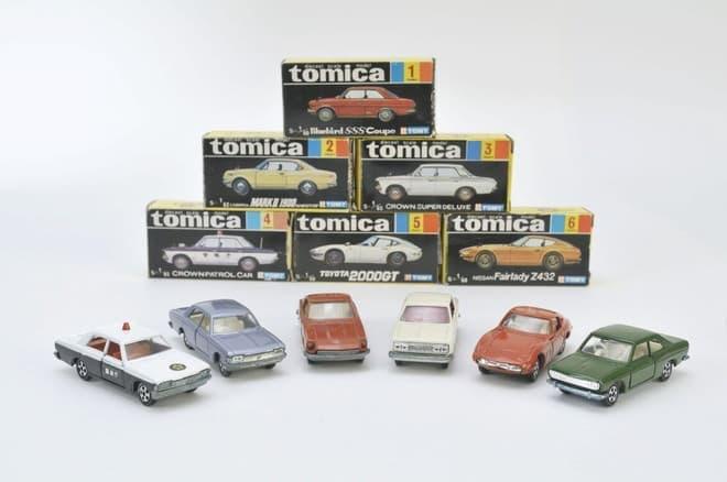 45年前の初代トミカ6車種、当時の人気車種がずらり
