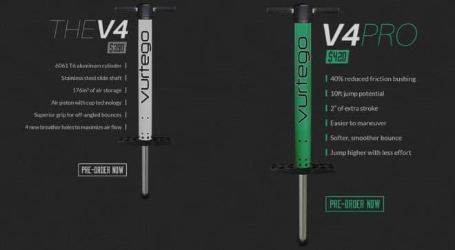左が標準モデル「THE V4」、右が Pro モデル「V4PRO」