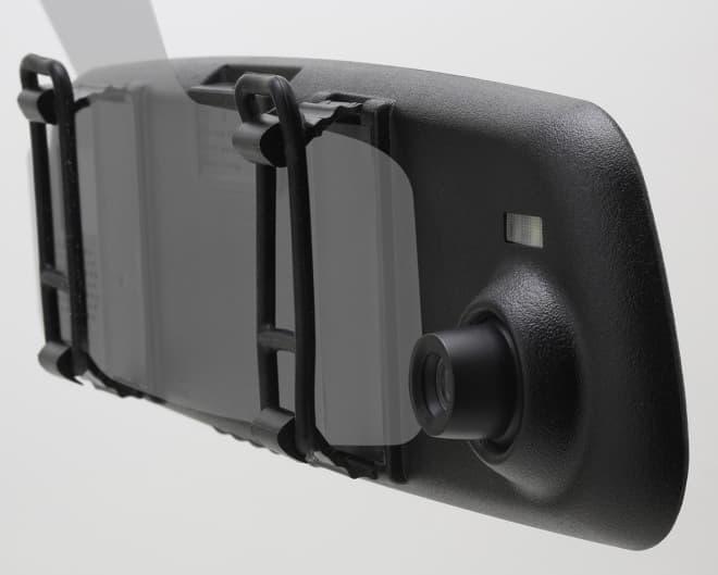 運転の妨げにならないドラレコ「X-STYLE ミラー型ドライブレコーダー EB-XS004D」